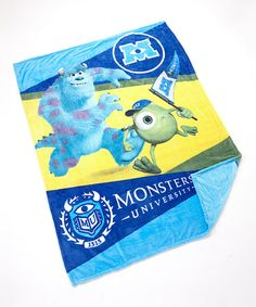 Look at this #zulilyfind! Monsters U Twin Blanket #zulilyfinds