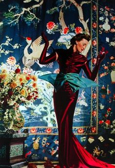 Over the top glamour! 1938 Vogue UK