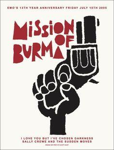 Mission of Burma Concert Poster by Jaime Cervantes
