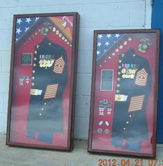 dress blues shadow box | Dual Flag Starting @ $350.00, Contents not included