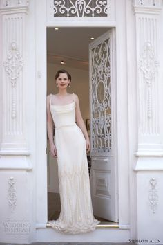 stephanie allin bridal 2014 paris wedding dress vintage style