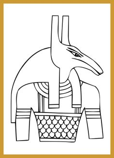 how to draw all the different egyptian gods