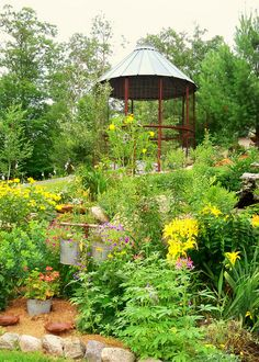 Corn crib gazebo overlooking garden by BrianBlom, via Flickr