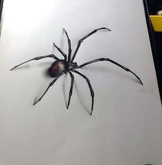 Great and scary 3D black widow.