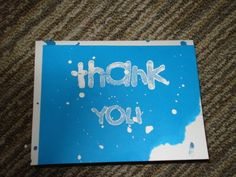 Blue 'Thank You' Card