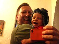 My grandson likes his crochet aviator hat!