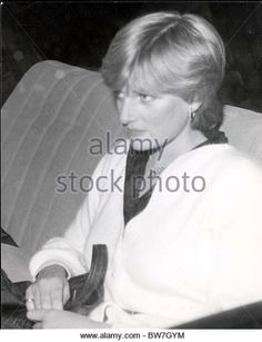 Diana Princess Of Wales Before Marriage 1981 Lady Diana Outside Her Flat Today....public - Stock Image - BW7GYM