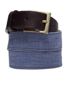 chambray belt. would look awesome with some khakis.