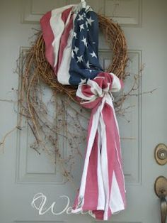 Carey Cottage ~ 81 ~ Cross Stitch & Fun:  Fourth of July Wreath
