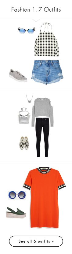 """Fashion 1, 7 Outfits"" by astrupp on Polyvore featuring rag & bone, Nobody Denim, Ray-Ban, Converse, white, black, Blue, grey, 7 For All Mankind and McQ by Alexander McQueen"
