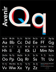 Avenir, designed by Adrian Frutiger in 1988 repinned by Awake — http://designedbyawake.com