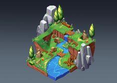 ArtStation - My isometric class project 2/3 - The Hunting range, Vinh Lam