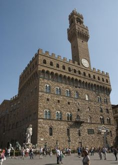 Palazzo Vecchio op de Piazza della Signora in Florence, tegenwoordig stadhuis en museum (foto: Albert van den Boomen)