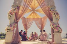 This is the most amazing mandap we have ever seen   Luxurious eye-candy Indian wedding   Event design: Sonia Sharma events   Decor: Revelry Event Designers   Flowers: Tic-Tock Couture Florals   Photography: Lin and Jirsa Photography