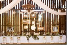 Rustic Country Wedding Reception Decorations | The French Flea: Rustic Vintage Shabby Chic Wedding Reception Ideas