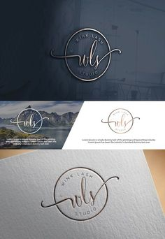 "Check out this Elegant, Playful, Beauty Salon Logo Design for You can use ""WLS"", ""WINK lash studio"", ""WLS wink lash studio"" Schönheitssalon Logo, Logo Branding, Branding Design, Logo Stamp, Spa Logo, Corporate Branding, Packaging Design, Logo Inspiration, Watercolor Logo"
