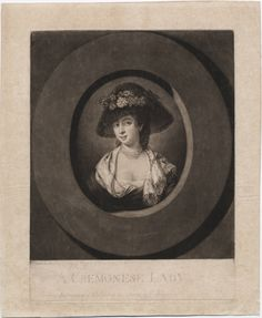 Another feather hat this one from 1776. Lewis Walpole Library Digital Collection
