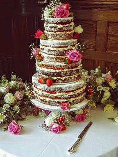 The Naked Wedding Cake | Dairy Cottage Cake Designs