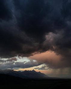 Photo by @jimmy_chin Summer storm clouds rolling through the Tetons. I should know by now never to leave the camera at home around Jackson WY. Thankfully smart phones these days can do a decent job in a pinch. #iphone @thephotosociety