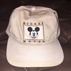 """Adult """"Mickey Mouse Hat"""" It has the logo on the front of the hat and a button back closure.  It has a little color fade around the front rim of the hat. Mickey & Co. Accessories Hats"""