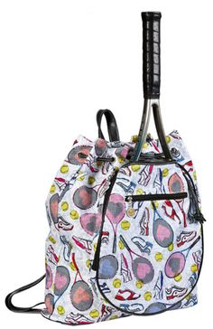 SlamGlam - Sydney Love Tennis Everyone Tennis Backpack Bag.  Swing with style with a Sydney Love tennis bag!