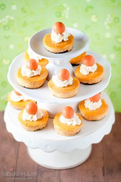SWEET MINI PUMPKIN CHEESECAKES WITH GINGER SNAP CRUSTS