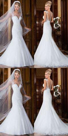 Wedding Dresses: White Ivory Lace Mermaid Wedding Dress Bridal Gown Custom Size 4 6 8 10 12 14 16 -> BUY IT NOW ONLY: $168.99 on eBay!