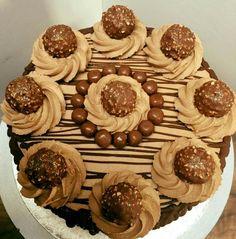 Large Ferrero rocher cake
