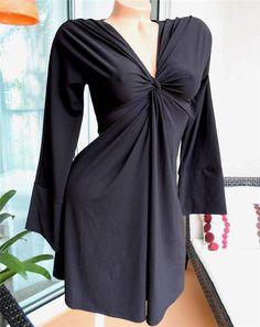 Victoria's Secret Moda Int'l Knotted Front Gathered Jersey Dress XS S 0 2 4 6 #ModaInternational #EmpireWaist #SummerBeach