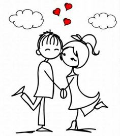 Stock Vector Valentine doodle boy and girl photo