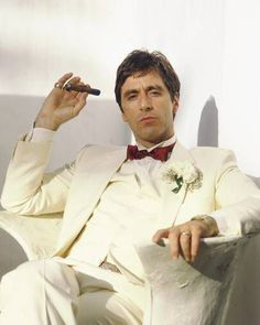 """""""My name is Tony Montana... You fuck with me you fuckin' with the best"""".... Pretty fucked up way u died there tony...."""