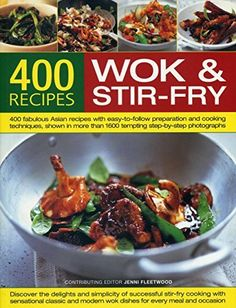 The wok is one of the world's oldest and most versatile cooking implements – a perfect pan for all kinds of methods, whether stir-frying, steaming, braising or deep-frying. This volume provides a history of the wok, how to use and look after it, and offers guidance and advice on the... more details available at https://www.kitchen-dining.com/blog/cookbooks-food-wine/asian-cooking/wok-cookery/product-review-for-400-wok-stir-fry-recipes-400-fabulous-asian-recipes-wit