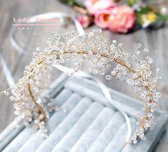 Crystal Headband, Pearl Headband, Headband Hair, Bridal Headbands, Bridal Hair, Pearl Headpiece, Wedding Tiara Hairstyles, Bride Tiara, Magical Wedding