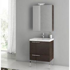 ACF by Nameeks ACF ANS14-W New Space 23-in. Single Bathroom Vanity Set - Wenge - ACF ANS14-W-