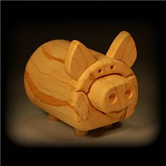 Wooden Piggy Bank made from solid box elder 12 by woodboxman, $25.00