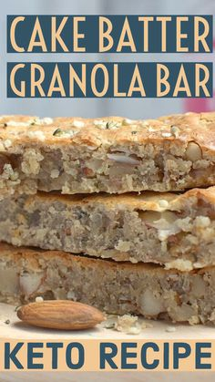 These nut-based Funfetti Cake Batter Granola Bars are made with ketogenic protein powder with birthday cake flavor. These are a great post-workout snack. Keto Granola, Granola Bars, Birthday Cake Flavors, Roasted Vegetable Recipes, Keto Bars, Low Carb Recipes, Ketogenic Recipes, Keto Snacks
