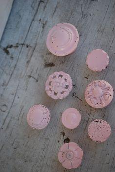 vintage pink knobs
