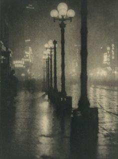 Broadway at Night, New York, 1910.