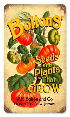 Vintage Tim Sign - Bolton's Seeds and Plants