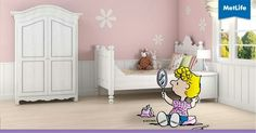 It's easy to focus on color and forget the finish when selecting paint for different rooms. Here's how to choose the right paint finish. Metlife Snoopy, Pink Bedroom For Girls, Paint Finishes, Toddler Bed, Painting, Furniture, Paint Ideas, Peanuts, Advertising