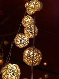 classic white rattan ball handmade decoration patio light wedding hanging light furniture. $15.00, via Etsy.