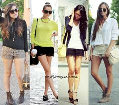 Shorts de renda, lindo!