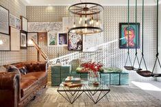 Estilo Pop Art. Ótimo para quem é criativo, descontraído e quer uma casa vibrante.