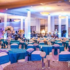 A ballroom fit for 600 strong, dressed with sequins and teal #topthatevent #chandeliers @linenhero  @suburbancollectionshowplace