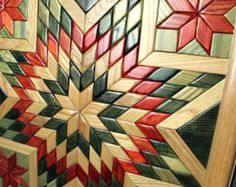 Wooden Quilt Wooden Wall Quilt Wood Quilt Unique Wall by TreeLineWoodProducts | Etsy