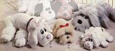 Pound Puppies (I had the little poodle and the grey scruffy one!) I even made them puppy condos!