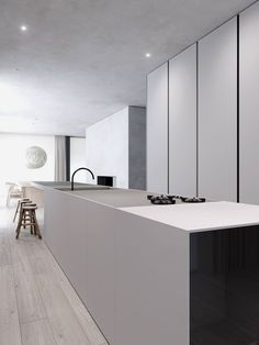 Minimalistic Design Interior Elegant Warsaw House by Tamizo Architects Kitchen Interior, House Design, Interior, Kitchen Remodel, Minimalist Decor, Home Decor, House Interior, Minimalist Kitchen, Kitchen Design