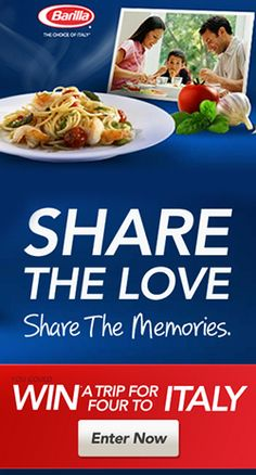 Win a Trip for 4 to Italy from Barilla