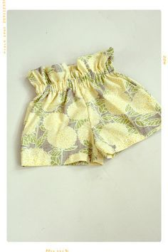 The Sun Flare Ruffle Top Floral Cotton Girls Shorts by Fleur + Dot