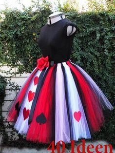 http://de.lady-vishenka.com/costume-queen-hearts-halloween/  15. Königin der Herzen — Halloween / Karneval Kostüm für Mädchen